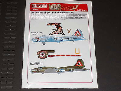Kits World Decals 148016 1/48 B-17G Fortress Scorchy & Thunder Bird