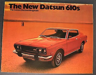 1973 Datsun 610 Catalog Sales Brochure Excellent Original 73