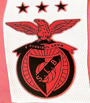 BENFICA Football Team BLACK & ORANGE Souvenir Crest IRON ON Badge Patch