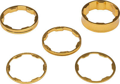 Promax 1-1/8 Stem Spacer Kit 10-5-3-1mm Spacers Gold