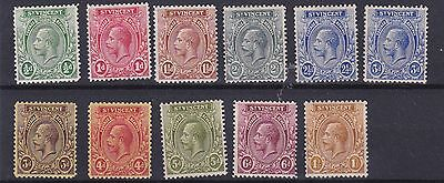 St Vincent 1921 - 32      S G 131 - 138    Various Values To 1/-    Mh