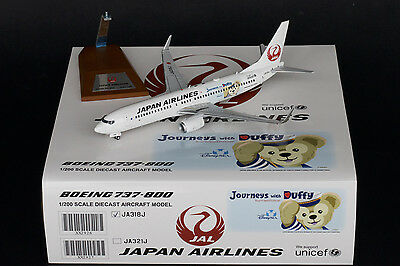 """JAL Japan Airlines 737-800 """"Journeys with Duffy"""" 1:200 Diecast Models XX2926"""