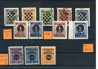 CROATIA 1941 Classic Stamps Collection #2