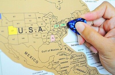 World Scratch Off Map, USA States, World Travel Tracker Map, Scratch Off Places