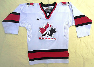 KIDS SIZE 10-12.(M)    US PRO ICE HOCKEY jersey by NIKE. CANADA NATIONAL TEAM
