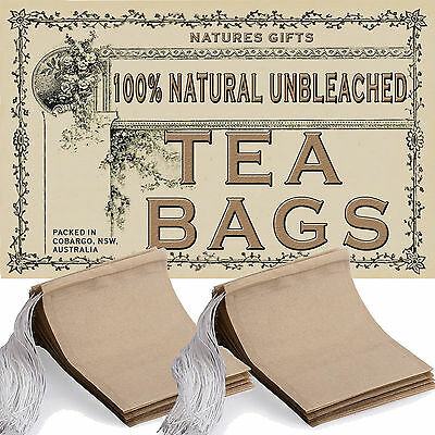 100% NATURAL UNBLEACHED FILTER PAPER TEA BAGS 50x70mm - 100pcs