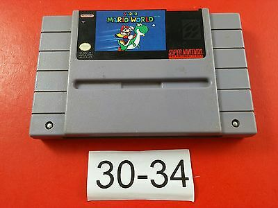 Super Mario World [Game Only] (Super Nintendo SNES) Cleaned, Tested & Working