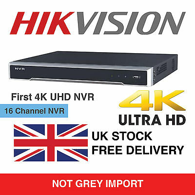 Hikvision 16 Channel Ultra HD 4K UHD Network NVR 8MP 16 PoE 16CH CCTV Recorder
