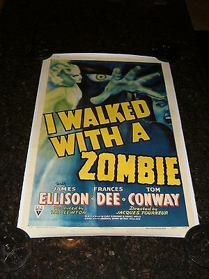 I WALKED WITH A ZOMBIE Original 1943 Movie Poster, C8.5 Very Fine to Near Mint