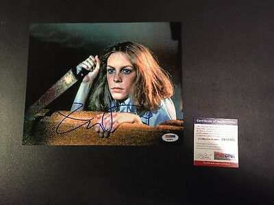 """Jamie Lee Curtis Signed 8""""x10"""" Photo Halloween Autographed PSA DNA"""