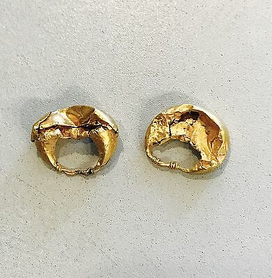 A Pair Of Ancient Roman Hollow Gold Earrings, Elegant Jewellery 2/3rd Cent A.D.