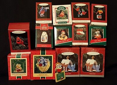 lot if 14 Hallmark Keepsake Christmas Ornaments All Birds bird theme