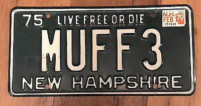 New Hampshire Muff License Plate Funny Dirty Tag