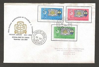 1964 Trinidad & Tobago 50th anniv Scout Girl Guide FDC