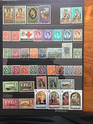 42 Stamps From St Lucia