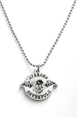 Avenged Sevenfold Metal Pendant with Chain Ball Necklace Black