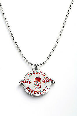 Avenged Sevenfold Metal Pendant with Chain Ball Necklace Red