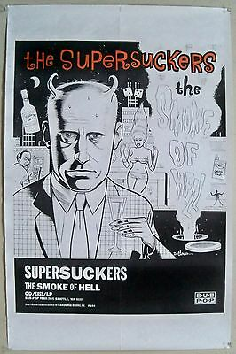 Original 1992 Supersuckers Smoke of Hell Sub Pop Promo Poster Daniel Clowes Art