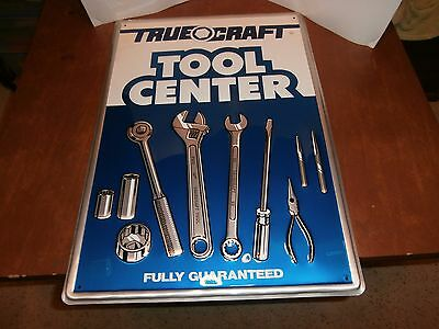 True Craft tool center automotive sign Tin, Not porcelain