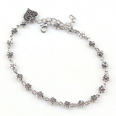 POP Silver Plated Chain Anklet Ankle Bracelet Barefoot Sandal Beach Foot Jewelry