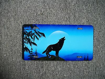 Howling Wolf Novelty Car License Plate
