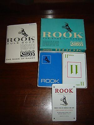 1963 Parker Brothers Rook The Game of Games - Complete - Blue Cards & Box