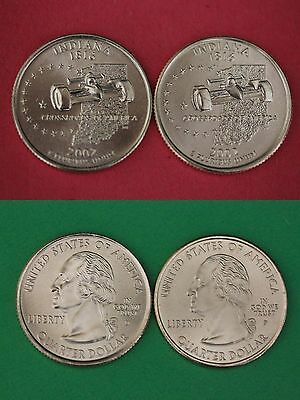 2002 D P Indiana State Quarters From Uncirculated Mint Sets Buy 4 Get 1 FREE