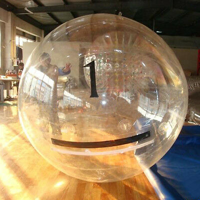 STO 2M Water Walking Roll Inflatable Zorb Zipper Zorbing Balldancing CLEAR Ball