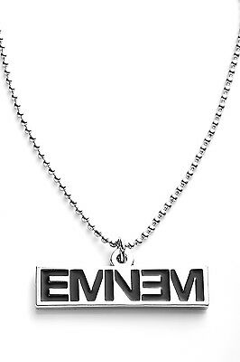 Eminem Metal Pendant with Chain Ball Necklace Black