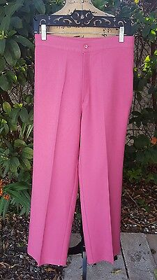 Vintage 70's Donnkenny Polyester Size 11/12 Pink Dress Pants