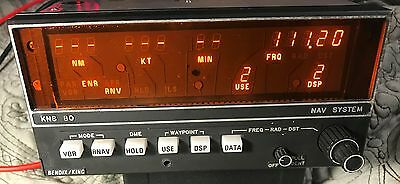King KNS-80 NAV VOR LOC DME GS receiver P/N 066-4008-00 guaranteed 30 days