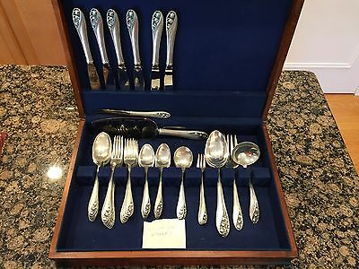 Vintage Gorham Lily Of The Valley Sterling Silver Flatware Silverware Set 51pcs