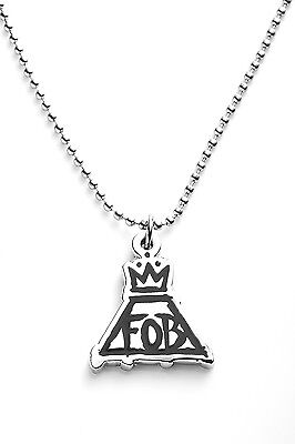 Fall Out Boy Metal Pendant with Chain Ball Necklace Black