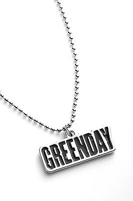 Green Day Metal Pendant with Chain Ball Necklace Black