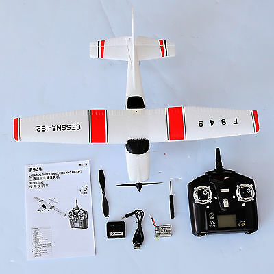 Wltoys F949 2.4G 3CH RC Airplane Fixed Wing Plane Outdoor RTF Good  Gift fo12