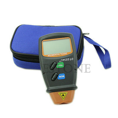 Digital Photo LCD Speed Gauge Tachometer Non Contact RPM Tach Tester RPM Motor