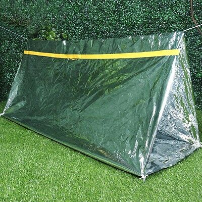 2 Persons Tube Tent Emergency Survival Hiking Camping Shelter Outdoor Portable