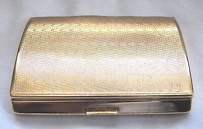 Vintage Gold Tone Melissa Cigarette Case Made In England