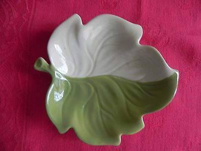 Carlton Ware Green Leaf Pin Dish