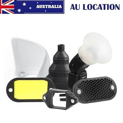 AU Stock Magnetic Flash Modifier Light Control Kit Honeycomb Grid Bounce Snoot