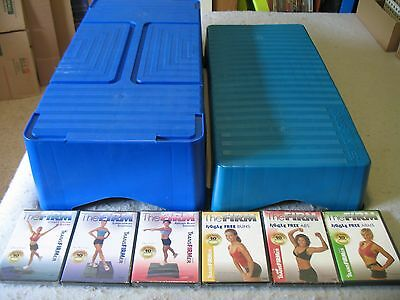 The Firm TransFirmer Exercise Steps Stepper and (6) Firm TransFirmer DVDs