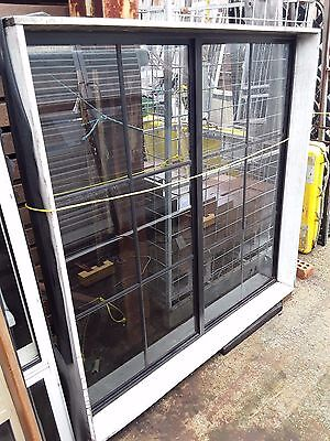 Black Aluminium Fixed Colonial Window - (W) 1550 mm x (H) 1550 mm - $165.00