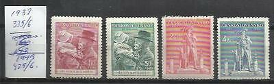 Q668-SERIES CHECOSLOVAQUIA MNH** REPUBLICA CHECA.335/6 Y 425/6 de 1938 y 1945