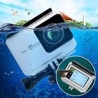 Waterproof Touch Screen Protective Housing Case Cover For Xiaomi Yi 2/4K Camera