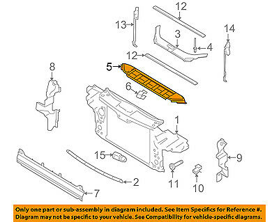 AUDI OEM 07 15 Q7 Radiator Core Support Top Panel audi radiator diagram wiring diagram online