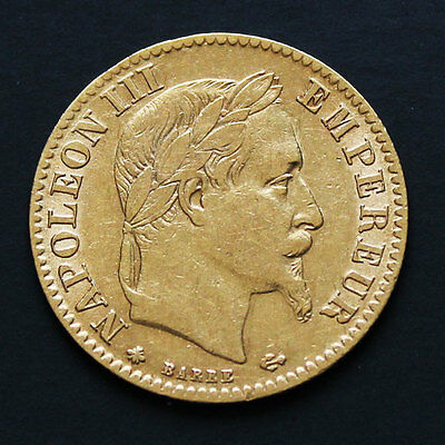 10 francs or Napoleon III 1867 A Gold coin France
