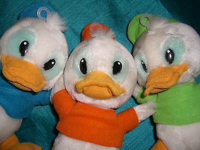"Disney Ducktales Huey, Dewey & Louie Plush Soft Toy Approx 10"" Walt Disney World"