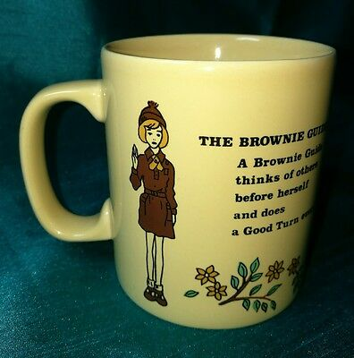 BROWNIES MUG Kiln Craft retro vintage collectable