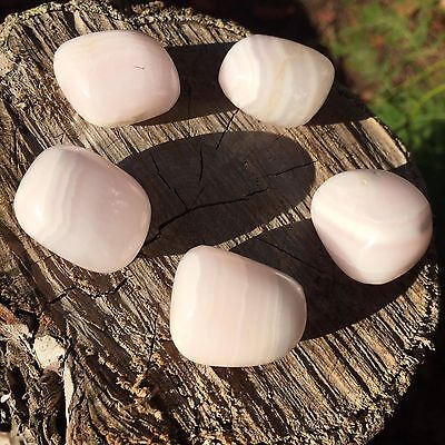 *1* Pink Mangano Calcite Natural Healing Tumbled Stone 20-25mm Reiki, Meditation