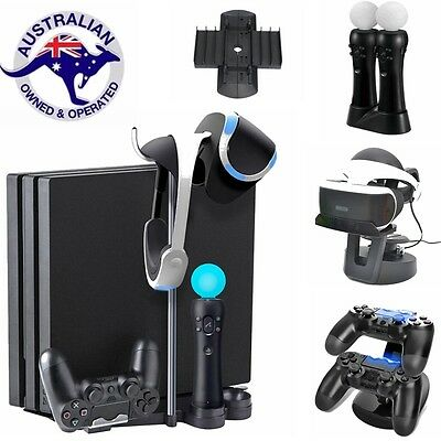 Dual Charging Station Dock VR Glasses Display Stand Storage Bracket For PS4 VR